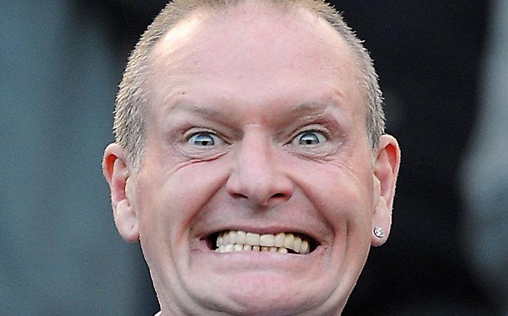 Paul Gascoigne mit seinem teuflischen Lächeln.