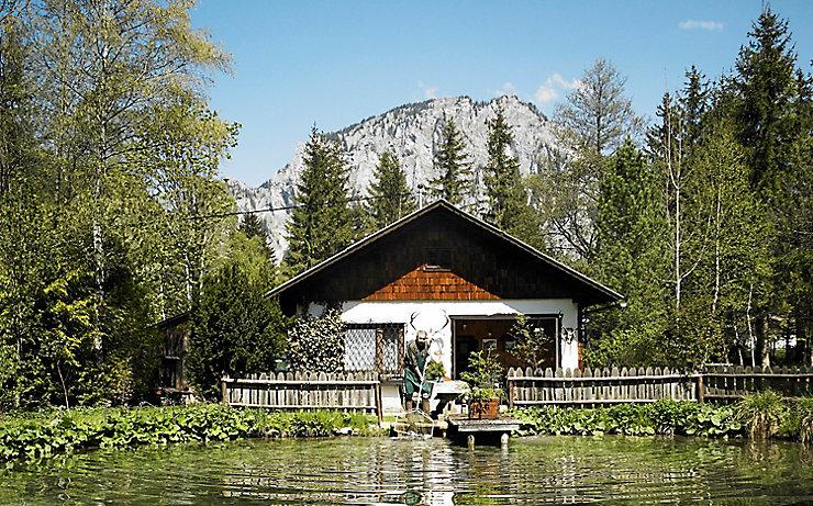Ein feiner Teich an der Laming zum Fischen.