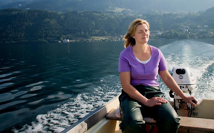 Berufsfischerin Ingrid Brugger ist Kärntens erste Fischzüchterin.