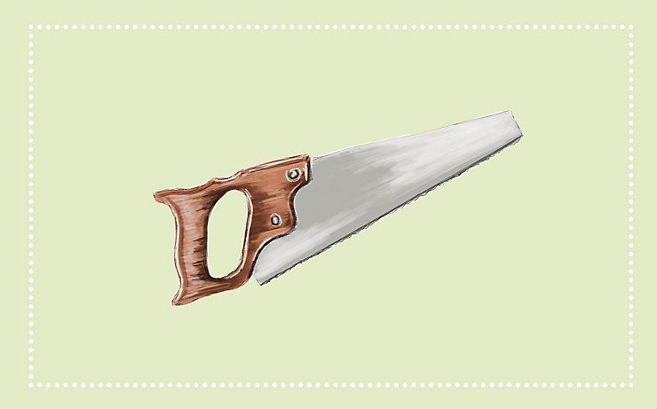 Gartenwerkzeug: Die Säge