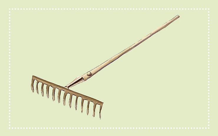 Gartenwerkzeug: Der Rechen