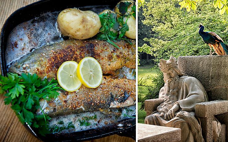 Der Gasthof Esterer punktet mit hervorragenden Speisen und dem wundervollen Gastgarten.