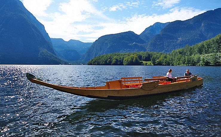 Mit der Zille am Hallstätter See