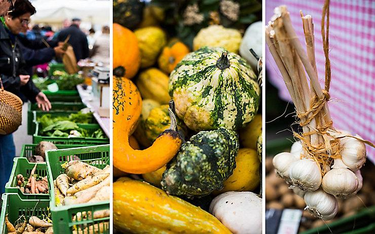 Reiche Auswahl am Viktualienmarkt in Gars