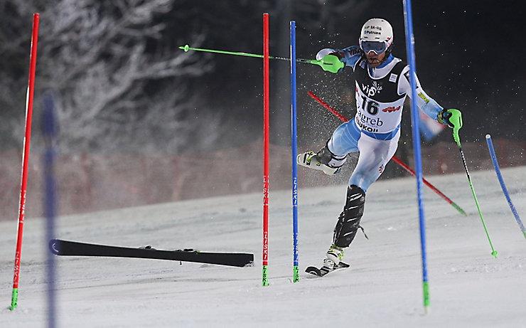 Ted Ligety beim Slalom von Zagreb