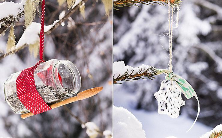 Samen und Kerne für die Tiere im Winter.