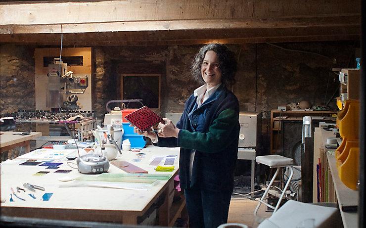 Tanja Moser im Atelier