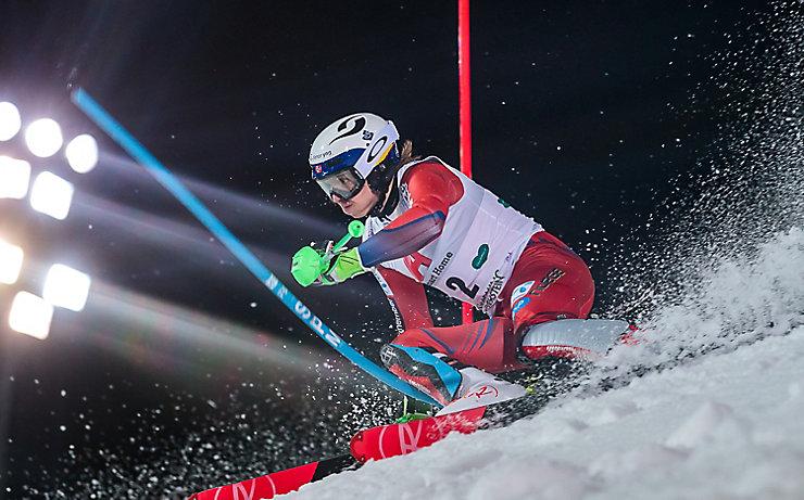 Hat bei den Olympischen Winterspielen in Pyeongchang Slalom-Gold im Visier: Henrik Kristoffersen, hier beim spektakulären Nightrace 2018 in Schladming.