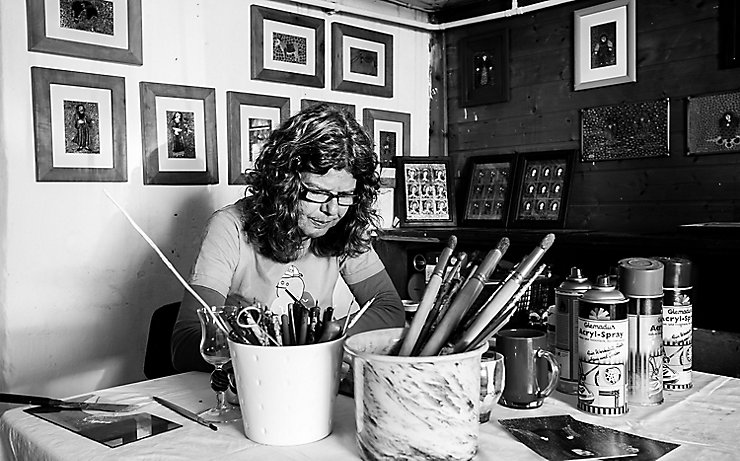 Glaskünstlerin Regina Doblander