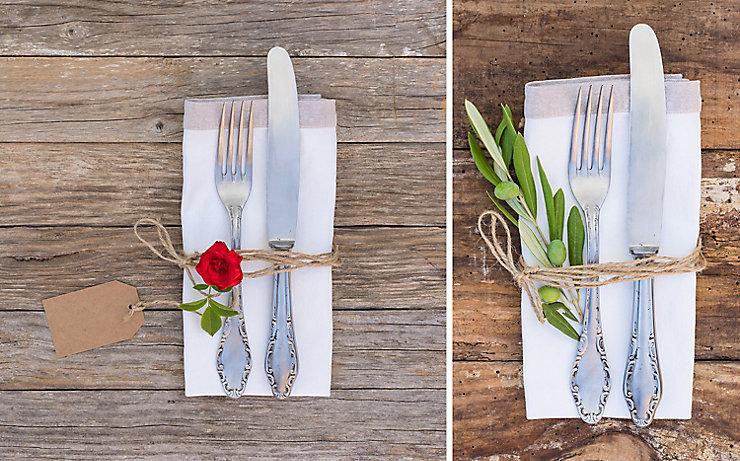Tischgedeck mit Serviette