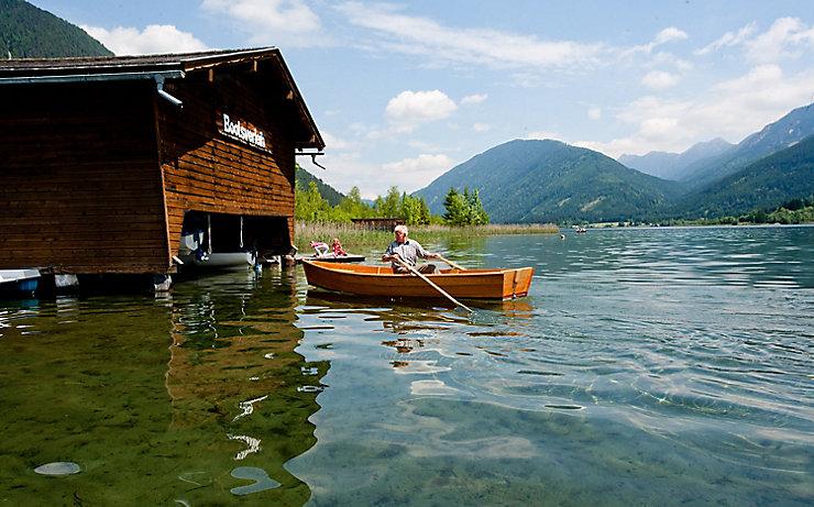 Bootsfahren Weißensee