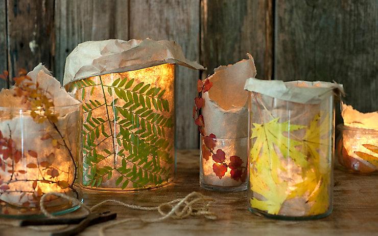 Teelichter Mit Herbstdeko