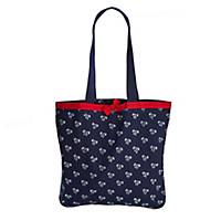 Einkaufstasche in Blaudruck