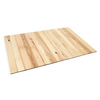 Eschenholz-Teppich fürs Bad