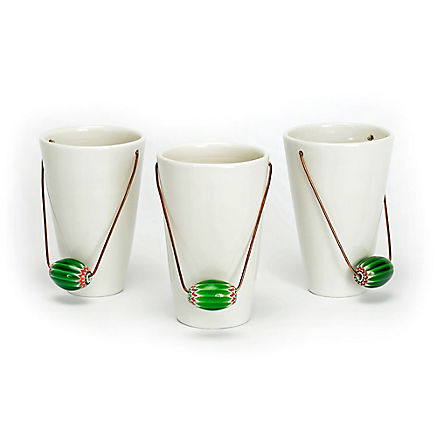 3 Deko-Töpfe mit Murano