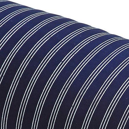Nackenrollenbezug in Blaudruck