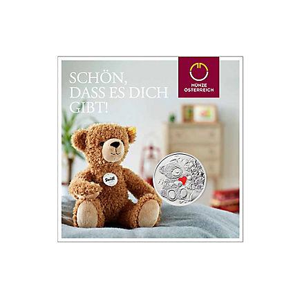 Münze Teddybär