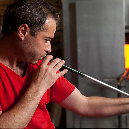 Wasserspender aus Glas