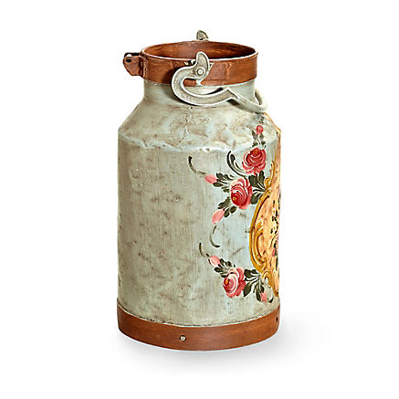 Original Milchkanne mit Bauernmalerei