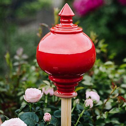 Rosenkugel handgetöpfert rot