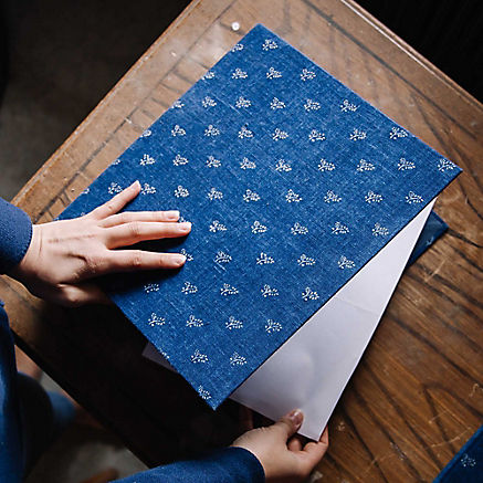 Blaudruck Ringbuchordner