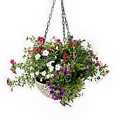 Blumenampel aus Ton