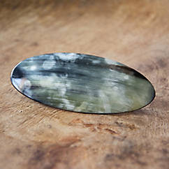 Ovale Haarspange aus Horn