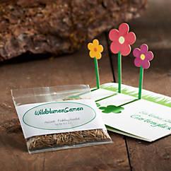 Wildblumensamen in Geschenkkarte