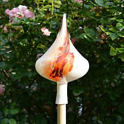 Mundgeblasener Gartenkegel Flamme