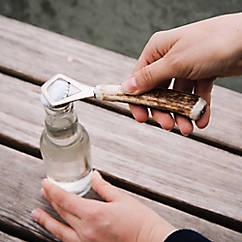 Flaschenöffner mit Hirschhorngriff