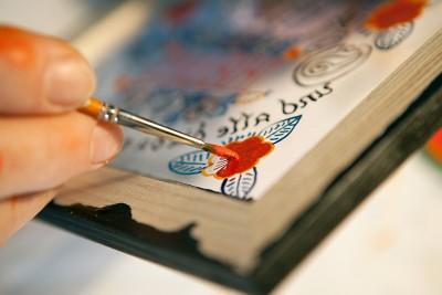 Hinterglasmalerei aus Sandl