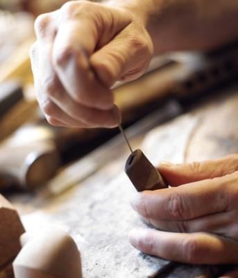 Handgeschnitzte Pfeife Bent