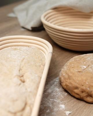 Handgefertigte Brotform rund