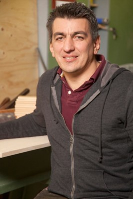 Schneidbrett aus Zirbenholz