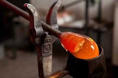 Fruchtfliegenfalle aus Glas