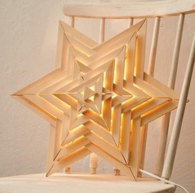 Sternlampe aus Holz