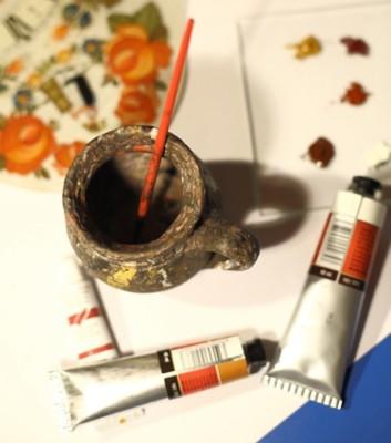 Hinterglasmalerei Haussegen