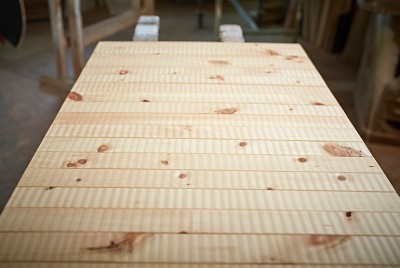 Teppich aus Zirbenholz