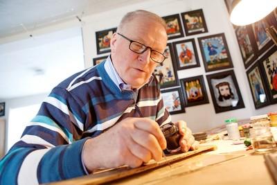 Haussegen Hinterglasmalerei