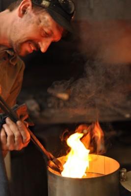 Feuerbock aus Eisen