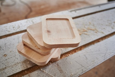 Zirben-Butterdose Kuh