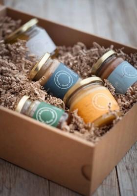 Honig-Geschenkbox, 6er-Set