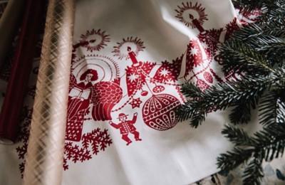 Tischdecke mit Weihnachtsmotiv