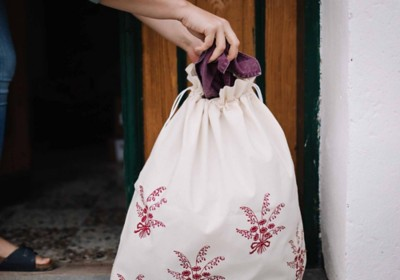Handbedruckter Wäschesack